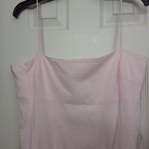 """American """"Eagle"""" living, size 16 dress, pink & whi"""